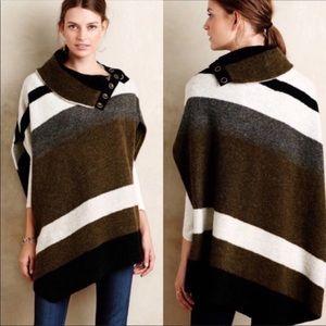 Anthropologie Tabitha Poncho Wool Small